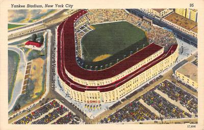 spo023A311 - Yankee Stadium NYC, New York Base Ball Stadium  Post Card Postcard