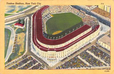 spo023A313 - Polo Grounds, New York City, USA Baseball Stadium Postcard, Post Card