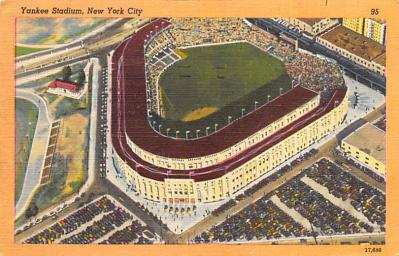 spo023A315 - Yankee Stadium, Bronx, New York City, USA Baseball Stadium Postcard, Post Card