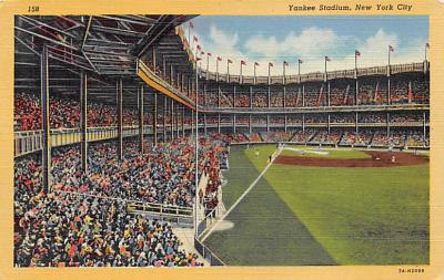 spo023A317 - Polo Grounds, New York City, USA Baseball Stadium Postcard, Post Card