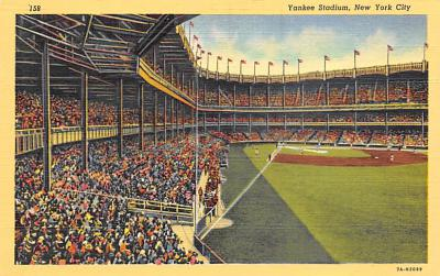 spo023A321 - Yankee Stadium, Bronx, New York City, USA Baseball Stadium Postcard, Post Card