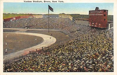 spo023A323 - Yankee Stadium, Bronx, New York City, USA Baseball Stadium Postcard, Post Card