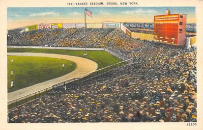 spo023A325 - Yankee Stadium, Bronx, New York City, USA Baseball Stadium Postcard, Post Card