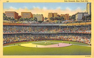 spo023A327 - Polo Grounds, New York City, USA Baseball Stadium Postcard, Post Card