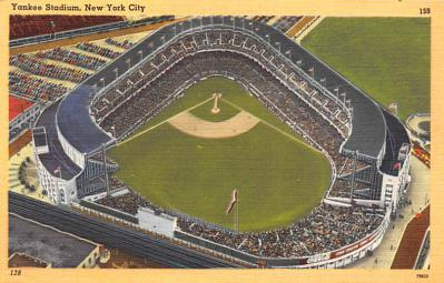 spo023A329 - Yankee Stadium, Bronx, New York City, USA Baseball Stadium Postcard, Post Card