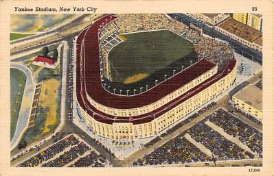 spo023A331 - Yankee Stadium, Bronx, New York City, USA Baseball Stadium Postcard, Post Card