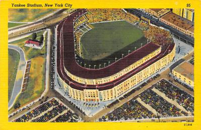 spo023A333 - Yankee Stadium, Bronx, New York City, USA Baseball Stadium Postcard, Post Card