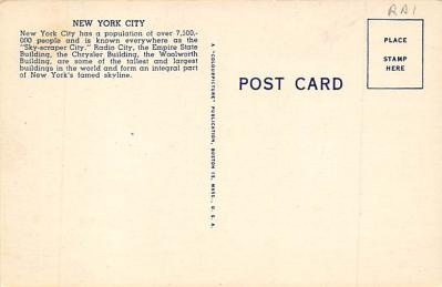spo023A333 - Yankee Stadium, Bronx, New York City, USA Baseball Stadium Postcard, Post Card  back
