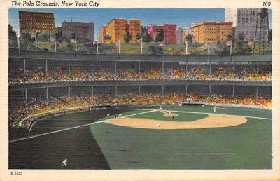 spo023A335 - Polo Grounds, New York City, USA Baseball Stadium Postcard, Post Card