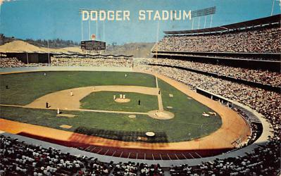 spo023A339 - Dodger Stadium, Los Angeles, California, USA Baseball Stadium Postcard, Post Card