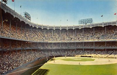 spo023A343 - Yankee Stadium, Bronx, New York City, USA Baseball Stadium Postcard, Post Card