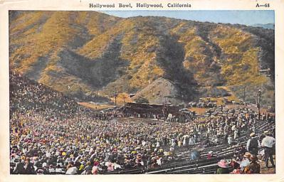 spo023A351 - Hollywood Bowl, Hollywood, California, USA Base Ball Stadium , Post Card