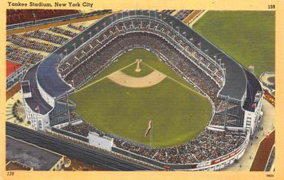 spo023A357 - Yankee Stadium, Bronx, New York City, USA Base Ball Stadium , Post Card