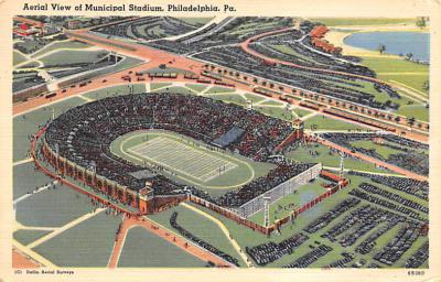 spo023A361 - Aerial View of Municipal Stadium, Philadelphia, PA, USA Football Stadium , Post Card