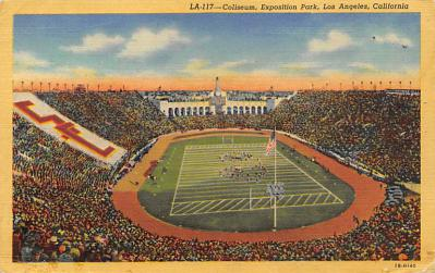 spo023A363 - Coliseum, Exposition Park, Los Angeles, California, USA Football Stadium , Post Card