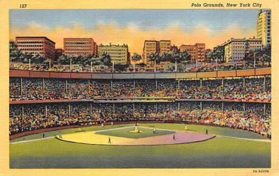 spo023A367 - Polo Grounds, New York City, USA Base Ball Stadium , Post Card