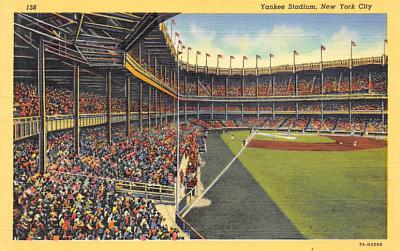 spo023A369 - Yankee Stadium, Bronx, New York City, USA Base Ball Stadium , Post Card