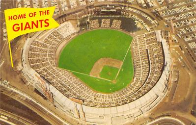 spo023A373 - Home of The Giants Candlestick Park San Francisco California USA Baseball Stadium  Postcard