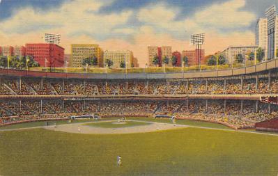 spo023A383 - Polo Grounds NYC USA Baseball Base Ball, Stadium  Postcard Post Card