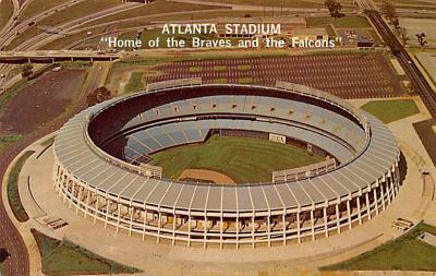 spo023A385 - Atlanta Stadium USA Baseball Base Ball, Stadium  Postcard Post Card