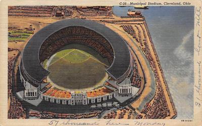spo023A389 - Municipal Stadium Cleveland Ohio USA Baseball Base Ball, Stadium  Postcard Post Card