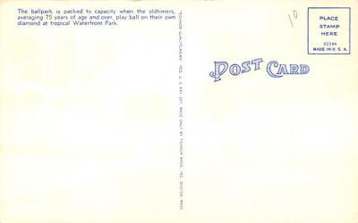 spo023A393 - Water Front Park St Petersburg FL USA Baseball Base Ball, Stadium  Postcard Post Card  back