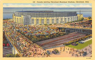 spo023A395 - Municipal Stadium Cleveland Ohio USA Baseball Base Ball, Stadium  Postcard Post Card