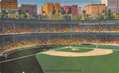 spo023A397 - Polo Grounds NYC USA Baseball Base Ball, Stadium  Postcard Post Card