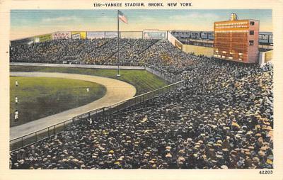spo023A399 - Yankee Stadium Baseball Stadium Postcard Post Card