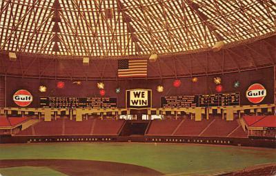 spo023A403 - Astrodome Baseball Stadium Postcard Post Card