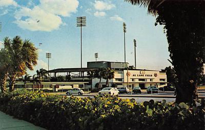 spo023A405 - Al Lang Field, St Petersburg Cardinals Baseball Stadium Postcard Post Card
