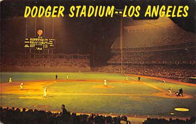 spo023A409 - Dodger Stadium Baseball Stadium Postcard Post Card