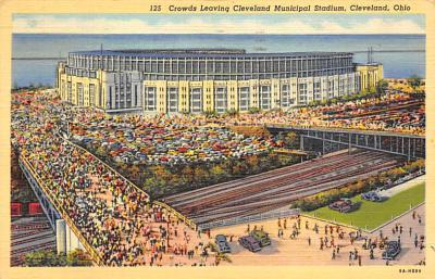 spo023A411 - Cleveland Municipal Stadium Baseball Stadium Postcard Post Card