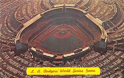 spo023A413 - La Dodgers Baseball Stadium Postcard Post Card