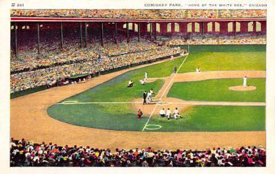 spo023A415 - Comiskey Park Baseball Stadium Postcard Post Card