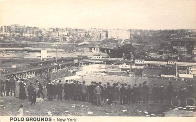 spo023A417 - Polo Grounds, Printed 1974 Baseball Stadium Postcard Post Card