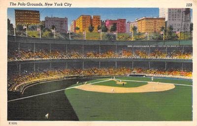 spo023A421 - Polo Grounds Baseball Stadium Postcard Post Card