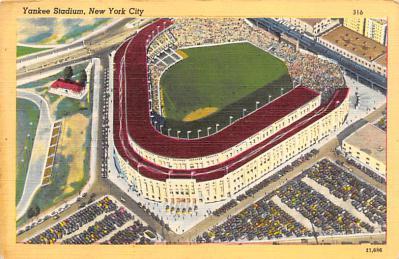 spo023A423 - Yankee Stadium Baseball Stadium Postcard Post Card