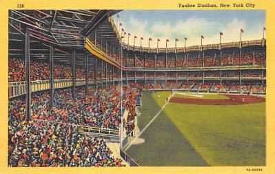spo023A425 - Yankee Stadium Baseball Stadium Postcard Post Card