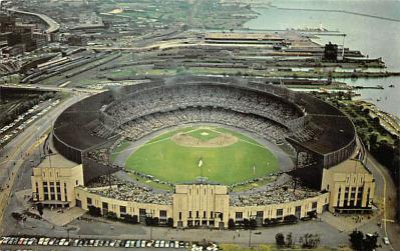 spo023A429 - Cleveland Municipal Stadium Baseball Postcard Post Card