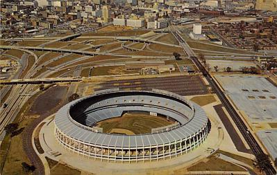 spo023A435 - Atlanta Stadium Baseball Stadium Postcard Post Card