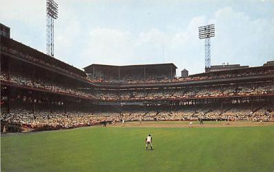 spo023A437 - Forbes Field Baseball Stadium Postcard Post Card