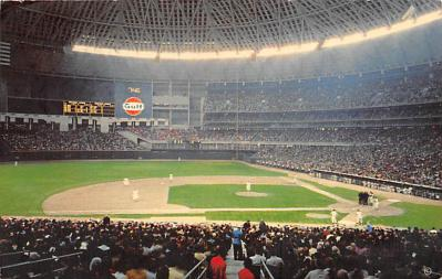 spo023A439 - Astrodome Interior Baseball Stadium Postcard Post Card