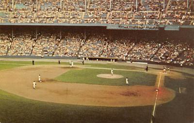 spo023A441 - Cleveland Indians, Municipal Baseball Stadium Postcard Post Card