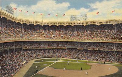 spo023A443 - Yankeee Baseball Stadium Postcard Post Card