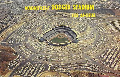 spo023A445 - Dodger Baseball Stadium Postcard Post Card
