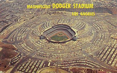 spo023A447 - Dodger Baseball Stadium Postcard Post Card