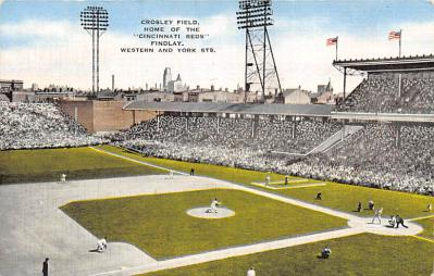spo023A449 - Crosley Field Baseball Stadium Postcard Post Card