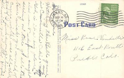 spo023A449 - Crosley Field Baseball Stadium Postcard Post Card  back
