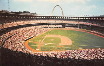 spo023A451 - Busch Memorial Stadium Baseball Postcard Post Card